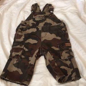 Oshkosh camo Boys overalls